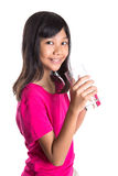 Young  Girl With A Glass Of Water XII Stock Photography