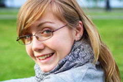 The young girl in glasses Royalty Free Stock Photography