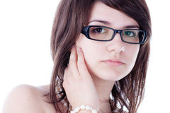 Young girl with glasses Stock Images