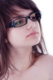 Young girl with glasses Royalty Free Stock Photo