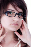 Young girl with glasses Stock Image
