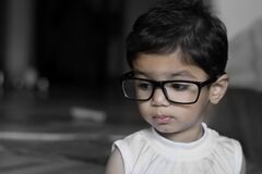 Young girl with glasses Royalty Free Stock Photos
