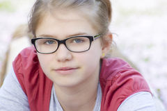 Young girl with glasses Stock Photo