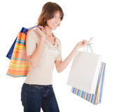 A young girl goes shopping Royalty Free Stock Images