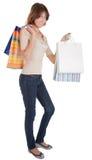 A young girl goes shopping Stock Photos