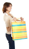A young girl goes shopping Royalty Free Stock Photo