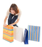 A young girl goes shopping Stock Photo