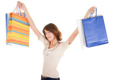 A young girl goes shopping Royalty Free Stock Image