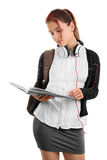 Young girl going through her notes Stock Photography