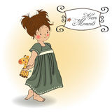 Young girl going to b royalty free illustration