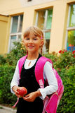 Young girl going to school Royalty Free Stock Photography