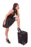 Young girl, going on vacations Stock Photos