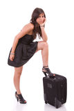 Young girl, going on vacations Royalty Free Stock Photo