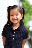 Young girl got smile with enjoy something royalty free stock photos