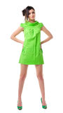 Young girl in green dress Stock Image