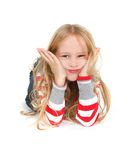 Young girl grimacing Stock Images