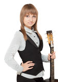 Young girl with guitar Stock Images