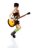 Young girl with a guitar Stock Photography