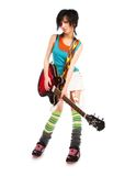 Young girl with a guitar Royalty Free Stock Images