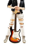 Young girl with a guitar Stock Photo