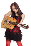 Young girl with guitar Stock Photography