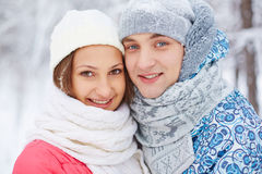 Young girl and guy Stock Images