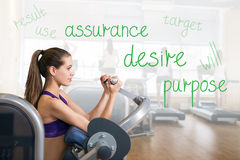 Young girl in the gym Royalty Free Stock Images