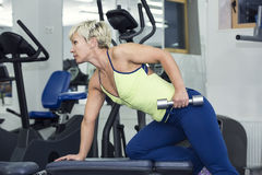 Young girl in the gym for sports Royalty Free Stock Photos