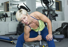 Young girl in the gym for sports Royalty Free Stock Images