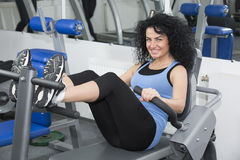 Young girl in the gym for sports Royalty Free Stock Image