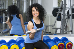 Young girl in the gym for sports Stock Photography