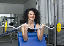 Young girl in the gym for sports Royalty Free Stock Photo