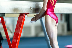 Young girl gymnast Royalty Free Stock Photography