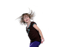 Young girl hair flying Royalty Free Stock Photography