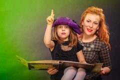 Young girl at Halloween party Royalty Free Stock Images