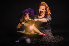 Young girl at Halloween party Stock Image