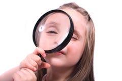 Young girl and handglass Stock Photos