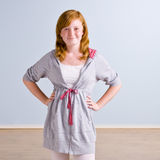 Young girl with hands on hips Royalty Free Stock Photography