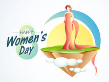 Young girl for Happy Women's Day celebration. Royalty Free Stock Photography