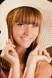 Young girl in a hat Royalty Free Stock Photo