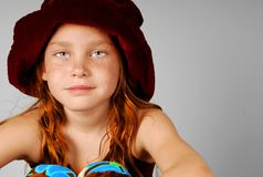 Young girl in hat Royalty Free Stock Photos
