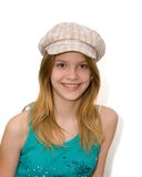 Young girl with hat Stock Photos