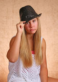 Young Girl With Hat Stock Photography
