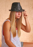 Young Girl With Hat Royalty Free Stock Photo