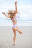Young girl having fun at beach Stock Photography