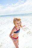 Young girl having fun at beach Royalty Free Stock Photography