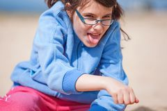 Young Girl Having Fun Royalty Free Stock Images