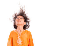 Young Girl Having Hair Fun V Royalty Free Stock Photography