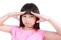 Young girl having stress Stock Photos