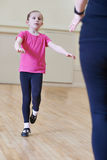 Young Girl Having Tap Dancing Lesson With Teacher Royalty Free Stock Photography